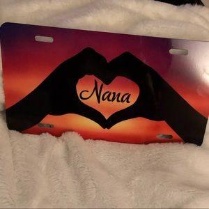 Nana vanity license plate